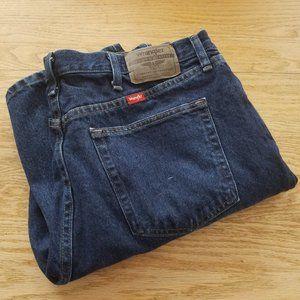 Wrangler Regular Fit Straight Leg Blue Jeans 37